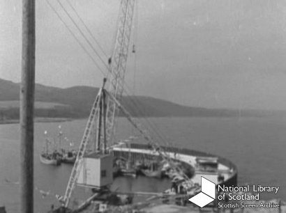 Opening of the new harbour c1961