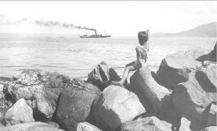 Dalraida crossing from Pirnmill to Carradale in 1938