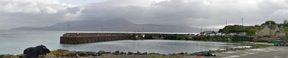Carradale Harbour on Kintyre